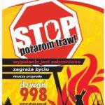 Plakat STOP pożarom traw jpg